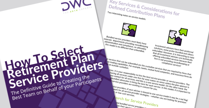 Download the eBook: How To Select Retirement Plan Service Providers