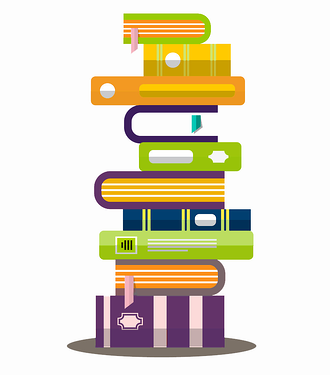 Piled Books Vector Graphic_Fiduciary Duties Due Diligence
