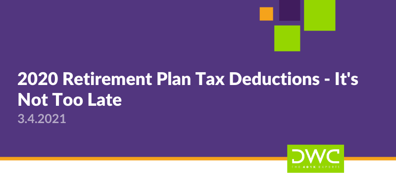 2020 Retirement Plan Deductions