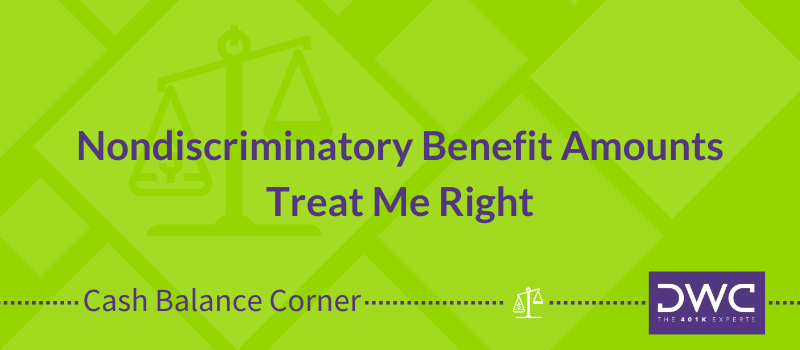 Nondiscriminatory Benefit Amounts