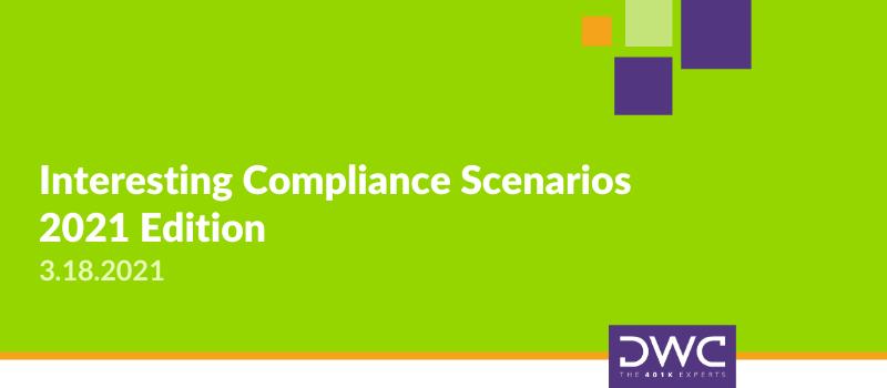 Interesting Compliance Scenarios - 2021